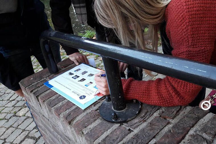 Impressie van een quizwandeling in Maastricht