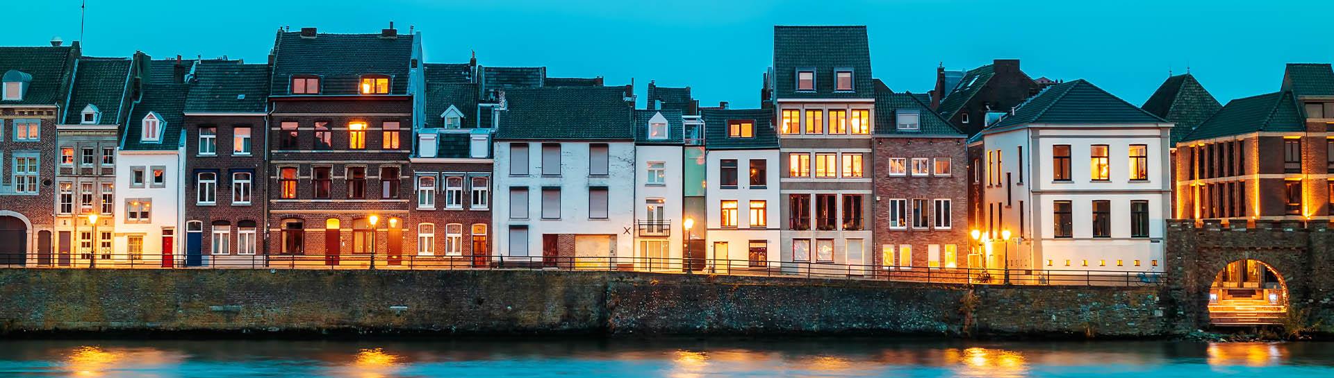 Oude en nieuwe gevels in Wyck Maastricht